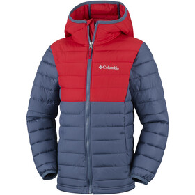 Columbia Powder Lite Veste à capuche Garçon, dark mountain/red spark